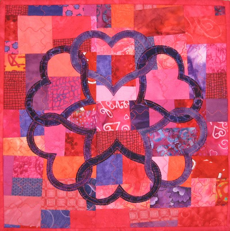 heart wall quilt using Hearts and More templates