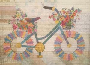 Bike quilt from Houston