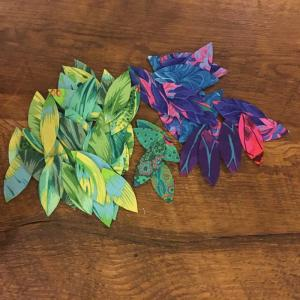 Leaves prepared for hand applique