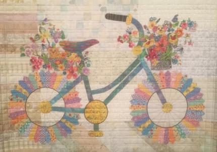 Bike quilt from Houston