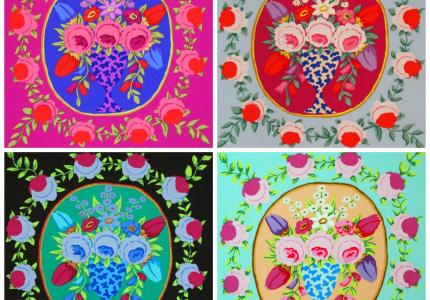 Choose from four different Kaffe Fassett Cameos