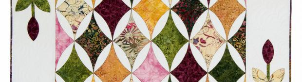 Hope's Diamond Quilt Pattern, Leaves Galore