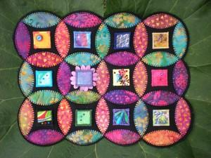 "close up of the 1"" squares that adorn my inchie quilt, ""Inchies in the Garden"""