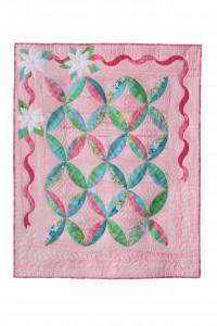 Put a little spring on your walls when your Christmas Ribbons quilt is set to come down.