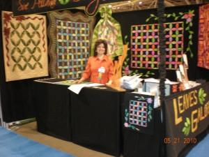 Here I am at Quilt Market in Minneapolis last May