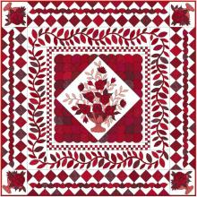 red and white QAL from EQ with vase corner detail