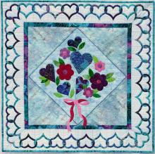 Bouquet Pattern blue