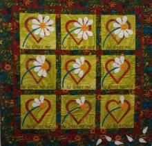 Gina's He Loves Me Quilt