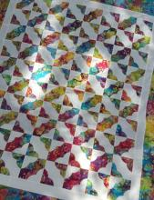 Butterfly kisses a hearts and more pattern tiles quilt