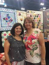 Sue Pelland Designs Certified Instructor Janie Alonzo at Quilt Market