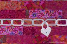 Unchain My Heart, a Hearts and More pattern, detail