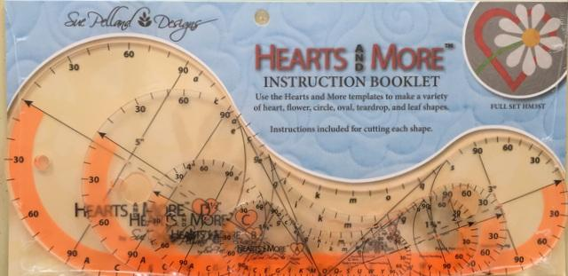 Hearts and More Templates; Set of four