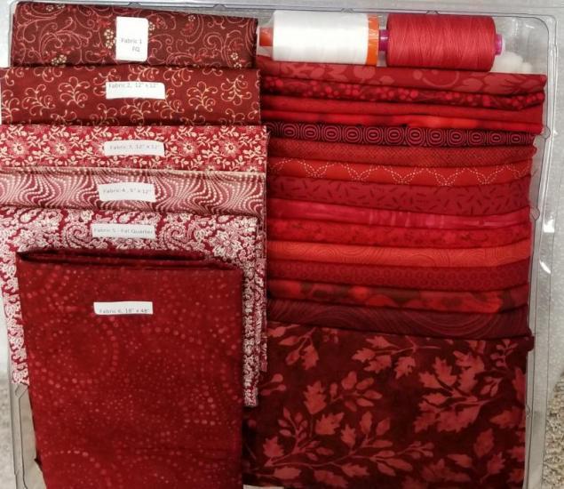Belle en Rouge quilt along Kit