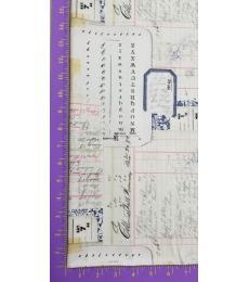 Tim Holtz Fabric: Memoranda 2, Calendar Multi