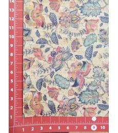 "Cork Fabric-Floral 18""x27"""