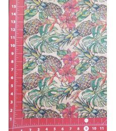 "Cork Fabric-Tropical Pineapple 18""x27"""