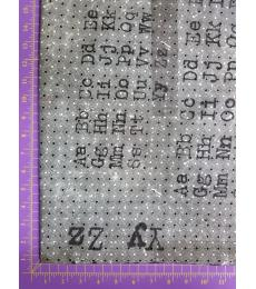 Tim Holtz fabric: one yard cut, Memoranda-Font
