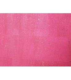 "Cork Fabric-Pink 18""X27"""