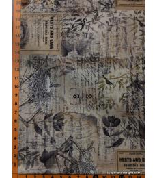 "Tim Holtz fabric: Eggs and Nest, Sold by the half yard, 18"" x 44"""