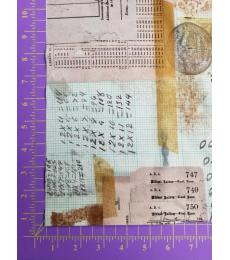 Tim Holtz fabric: One yard cut, Memoranda 3, Arithmetic