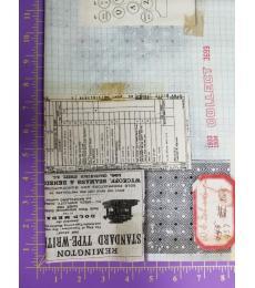 Tim Holtz fabric: one yard cut, Memoranda-typewriter