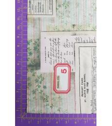 Tim Holtz fabric: One Yard Cut, Memoranda 3, Schooling