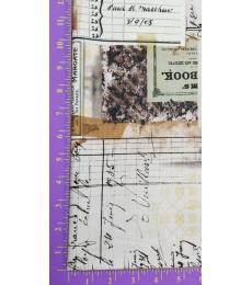 Tim Holtz Fabric: Memoranda, Pharmacy multi