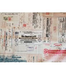 Tim Holtz Fabric: Vintage Receipts one yard cut