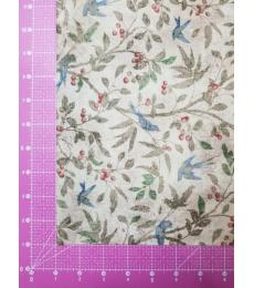 Tim Holtz Fabric: 1 yard cut, Birds and Berries
