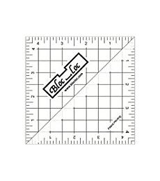 "Block-Loc Half Square Triangles 4.5""x4.5"" Ruler"