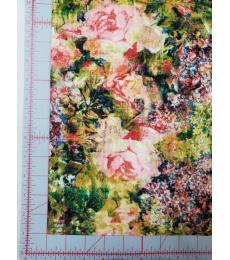 Tim Holtz fabric: one yard cut, Foundations-Bouquet