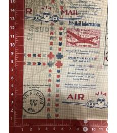 Tim Holtz Fabric:In Transit color red one yard cut