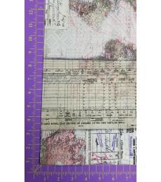 Tim Holtz fabric: One yard cut, Memoranda 3, World maps