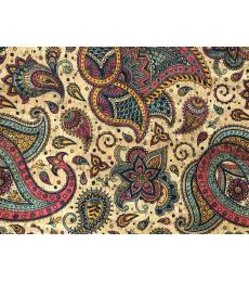 "Cork Fabric-Paisley 18"" x 27"""