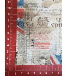 Tim Holtz Fabric: Royal Mail one yard cut.