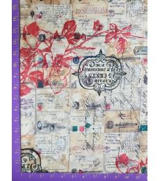 Tim Holtz Fabric: Special Delivery one yard cut