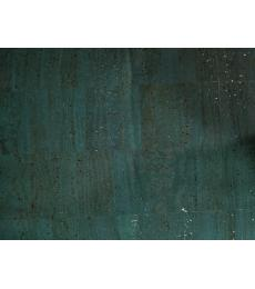 "Cork Fabric-Teal With Siliver Flecks 18""x27"""