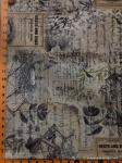 """Tim Holtz fabric: Eggs and Nest, Sold by the half yard, 18"""" x 44"""""""