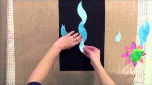 Sue Pelland Designs, Video 4 of 5, Rotary Cut Applique Demonstration with Leaves Galore